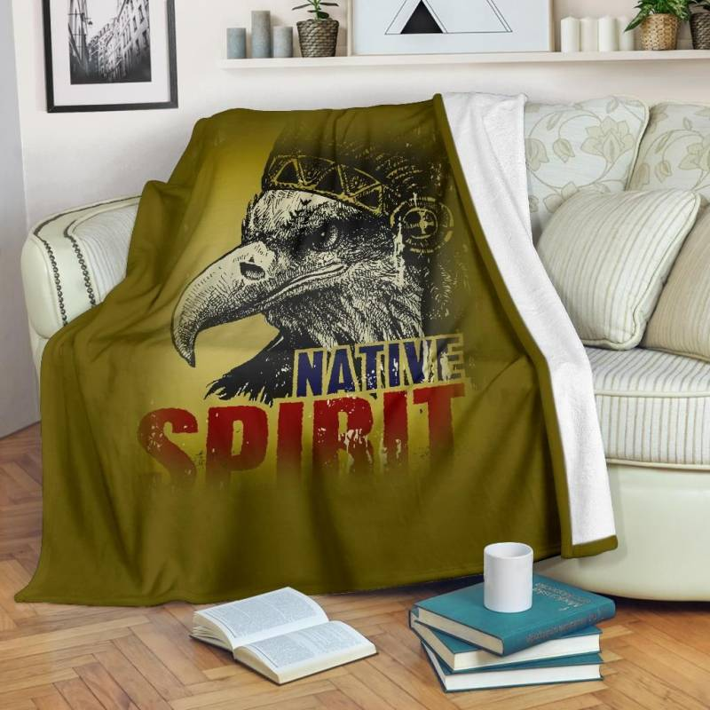 Native American Premium Blanket - Native Spirit - BN12