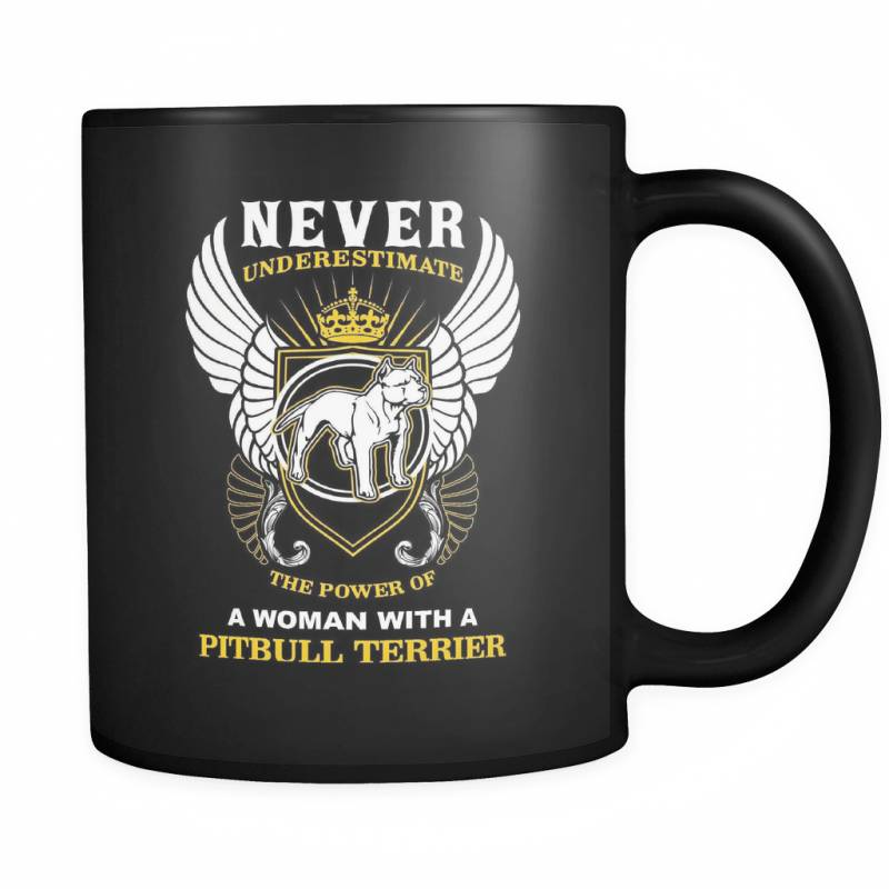 A Woman With A Pit Bull - Luxury Mug