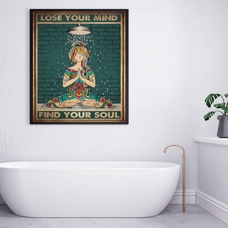 Yoga Lose Your Mind Find Your Soul - Unframed Vertical Poster