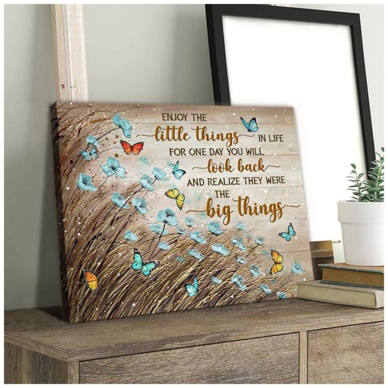 Enjoy the little things butterfly poster poster 3332203075