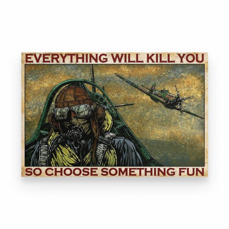 Air Force Airplane Pilot Everything Will Kill You - Poster