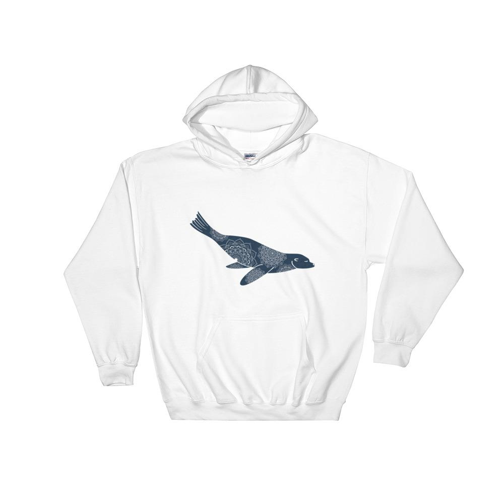 Beautiful Seal - Women's Hooded Sweatshirt