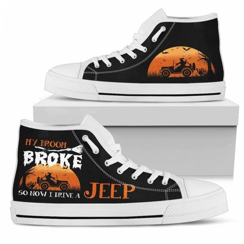 My Broom Jeep Women's High Top Shoes