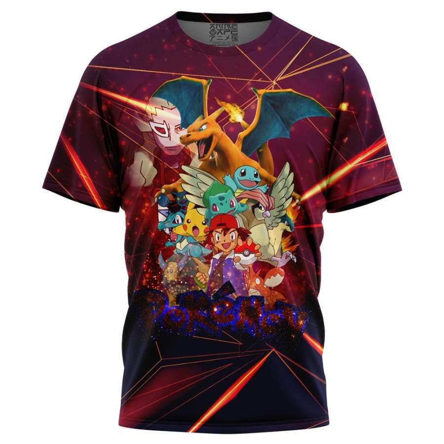 Ash Movie Poster Pokemon T-Shirt