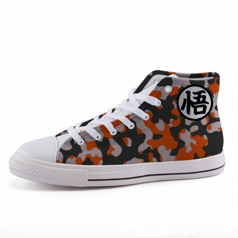 Dragon Ball Goku Kanji Camo Style Anime Sneaker Shoes