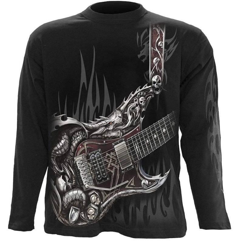 AIR GUITAR - Longsleeve T-Shirt Black