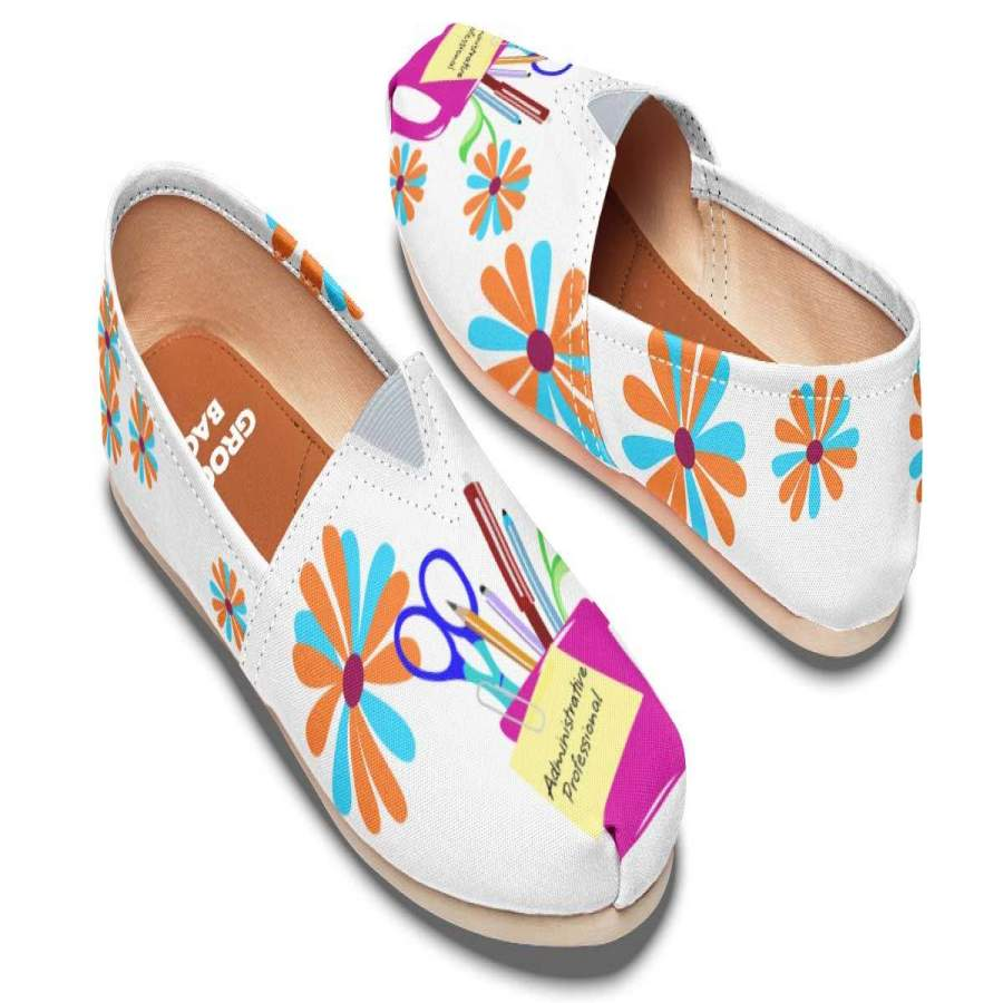 Administrative Assistant Pencil Cup Casual Shoes