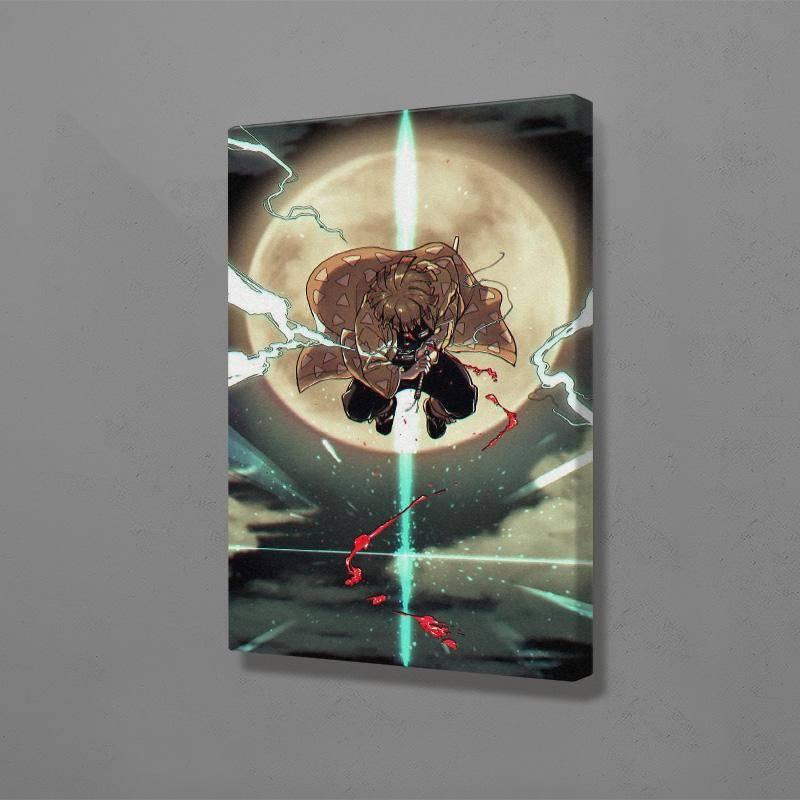 Demon Slayer Zenitsu Agatsuma Poster Wall Art Canvas