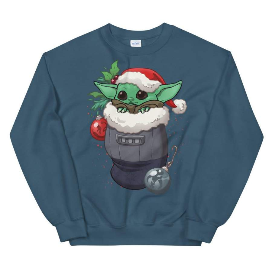 Christmas Baby Yoda Stocking Stuffer Unisex Sweatshirt – T ...
