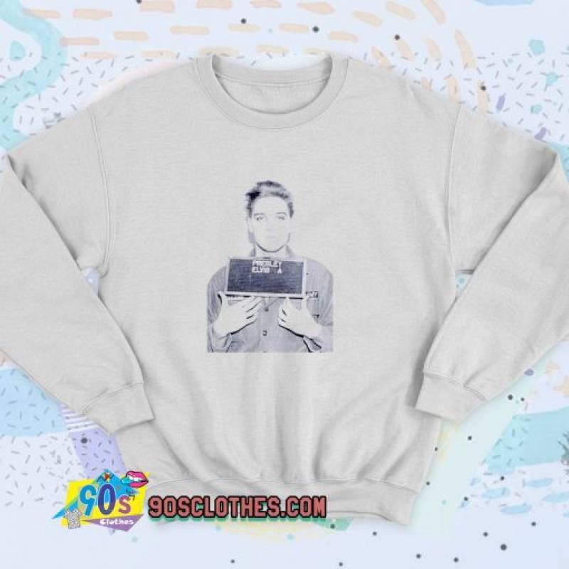 Elvis Aaron Presley Mugshot Unisex Sweatshirt