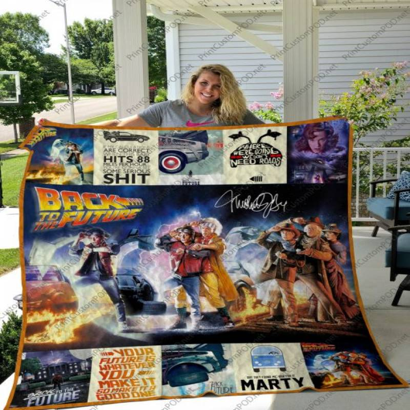 H – Back To The Future 2 Quilt Blanket