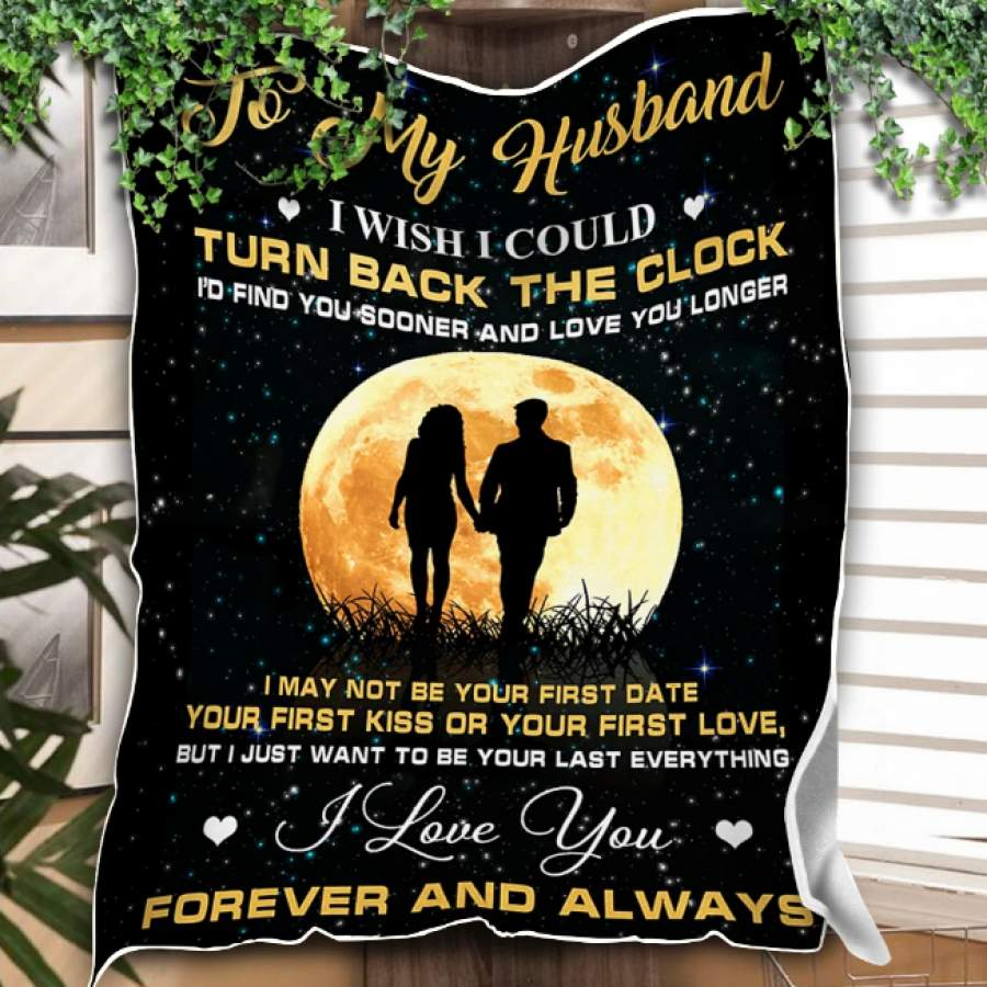 CUSTOM BLANKET TO MY HUNSBAND BLANKET - PERFECT GIFT FOR HUSBAND - FLEECE BLANKET 012