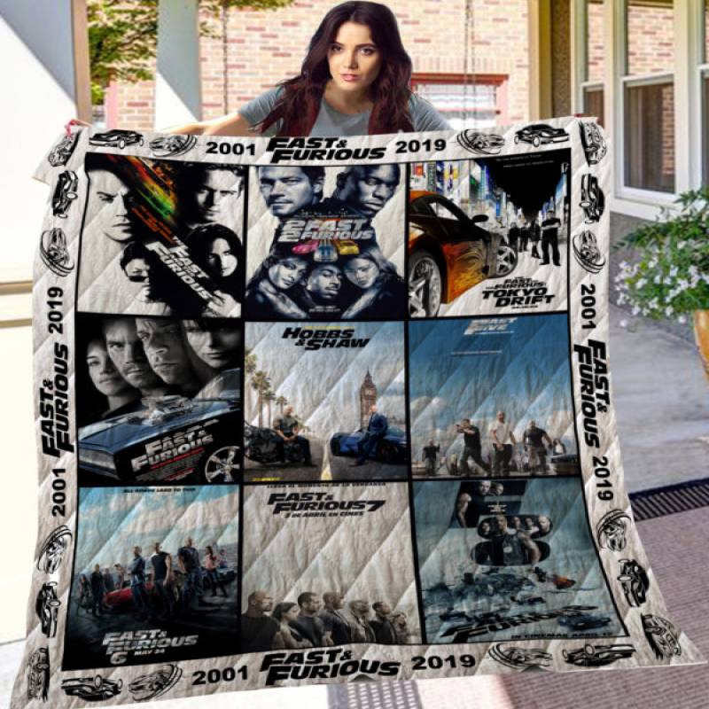 Fast And Furious Quilt Blanket