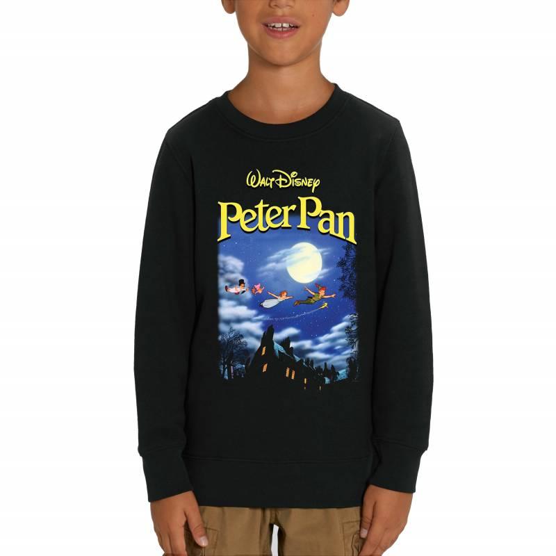 Disney Peter Pan Poster Children's Unisex Black Sweatshirt