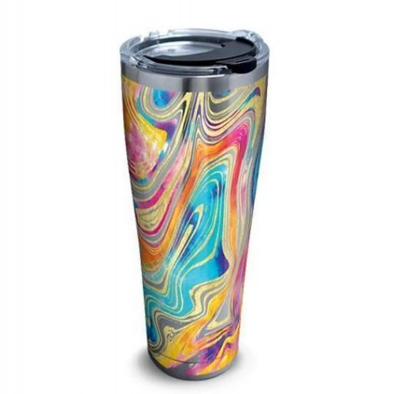 Tie Dye Swirl CL15100124MDT 16oz 20oz Travel Mug Vacuum Sealed Tumblers
