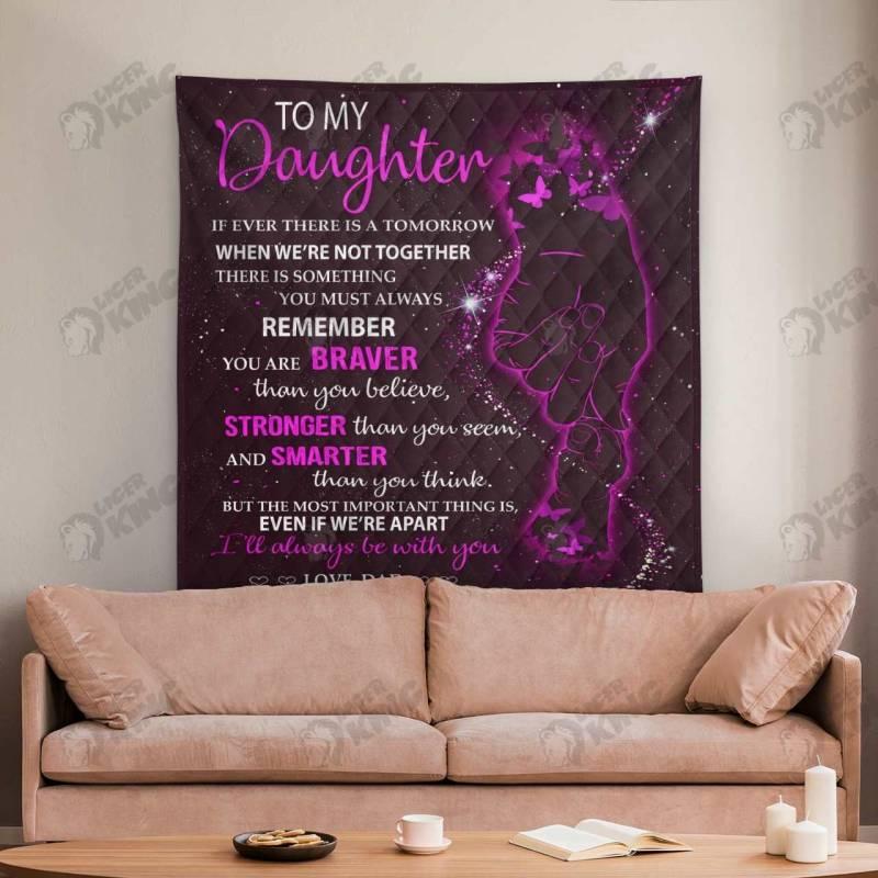 Ligerking™ To My Daughter Quilt Blanket 1398