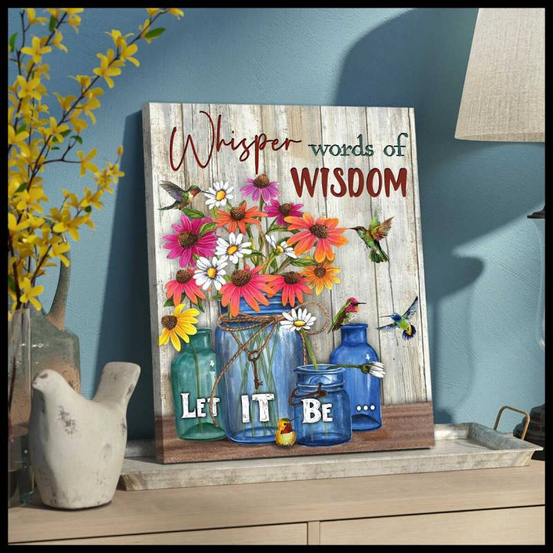 Whisper words Hummingbird Poster Canvas 5632203078