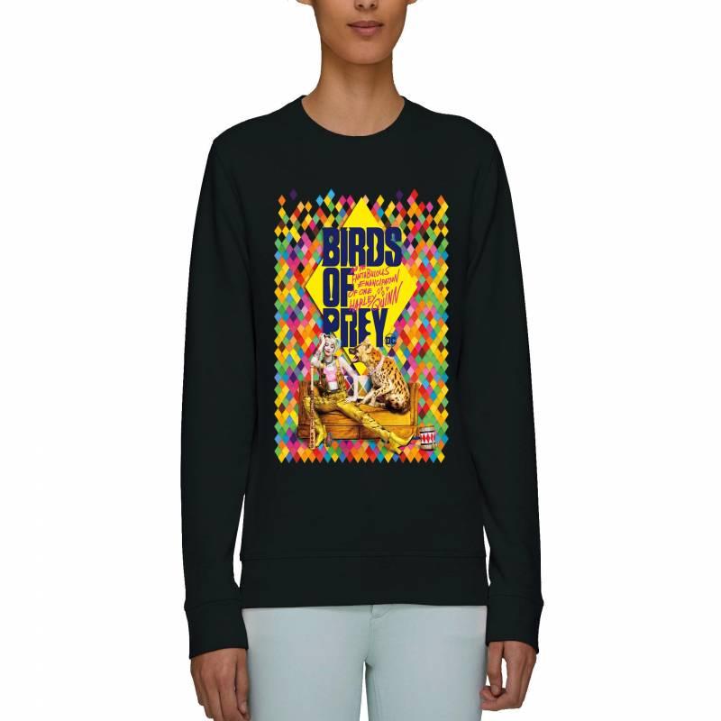 Harley Quinn Birds of Prey Movie Poster Adults Unisex Black Sweatshirt