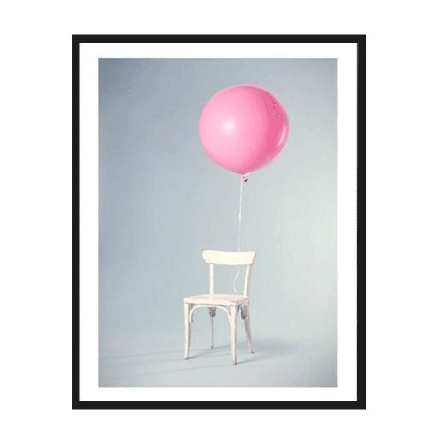 Balloon On A Chair Poster
