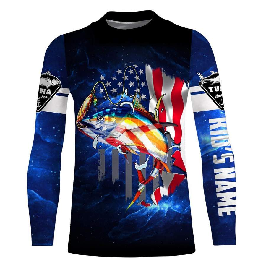 Download Tuna Fishing 3D American Flag Patriot Customize name All ...