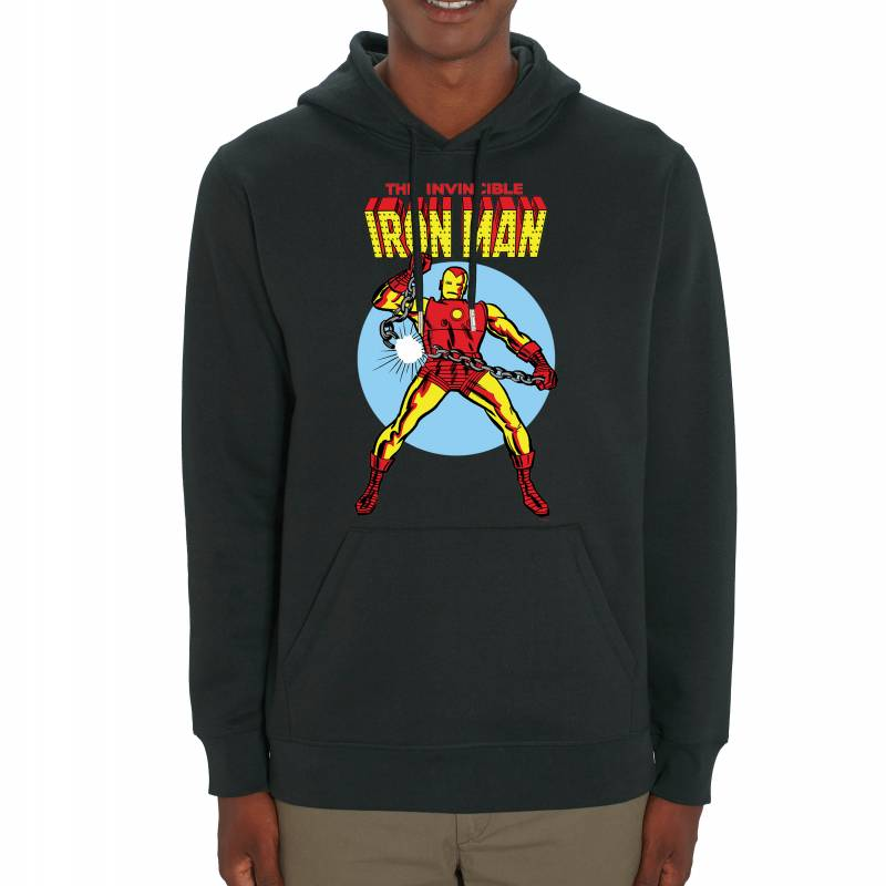 Marvel Universe The Invincible Iron Man Adult's Unisex Black Hoodie