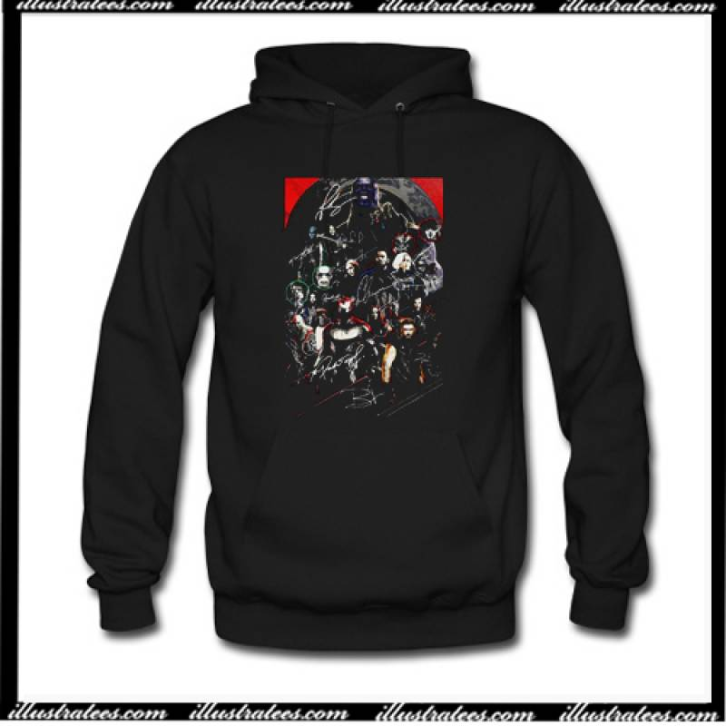 Marvel Avengers Endgame Poster Character Signature Hoodie AI