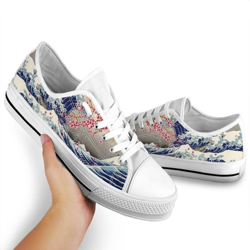 Japanese kanagawa wave low top shoes – BBS