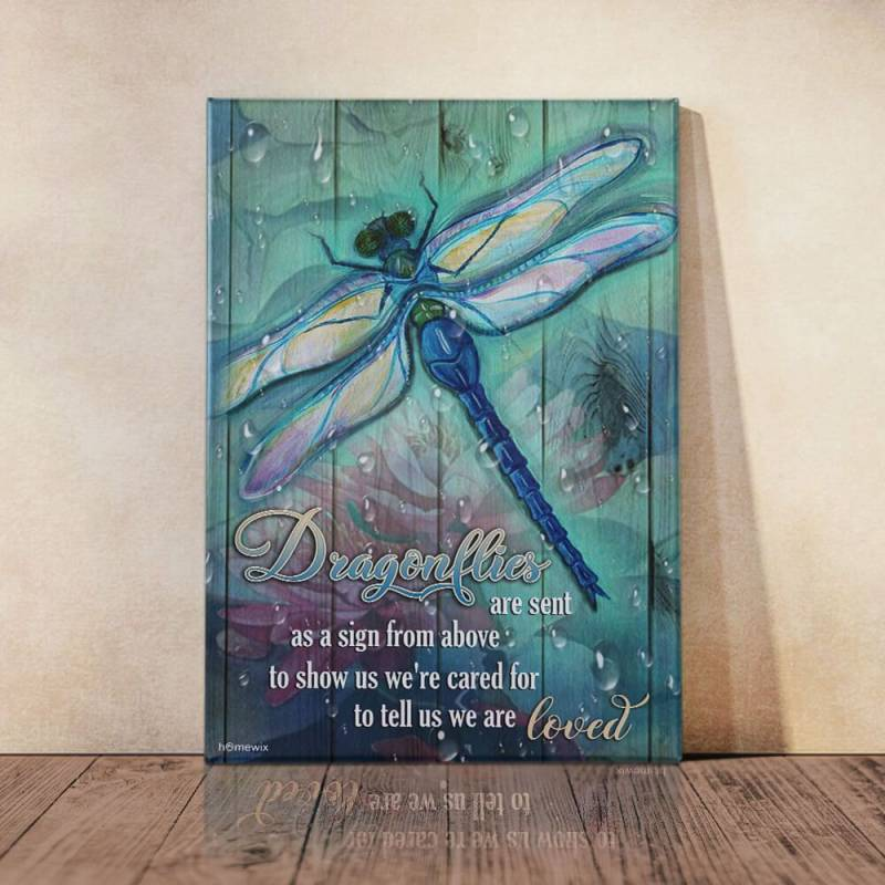 A Sign From Above Dragonflies   Poster Canvas 5132203069