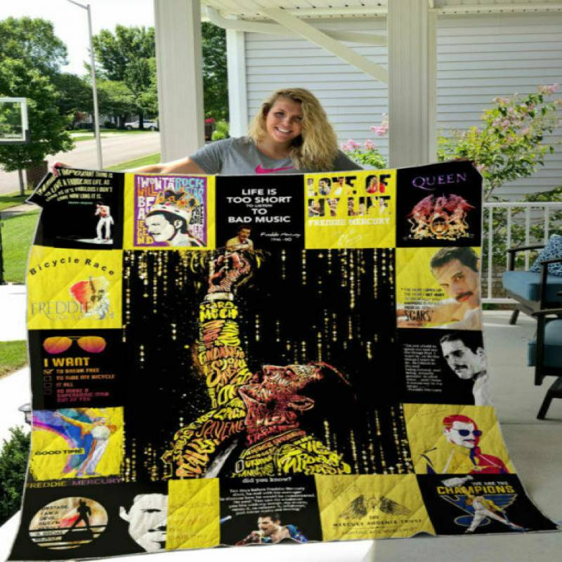 homesweetqult – Freddie Mercury T-Shirt sherpa blanket, 50×60, 60×80 hsb31285