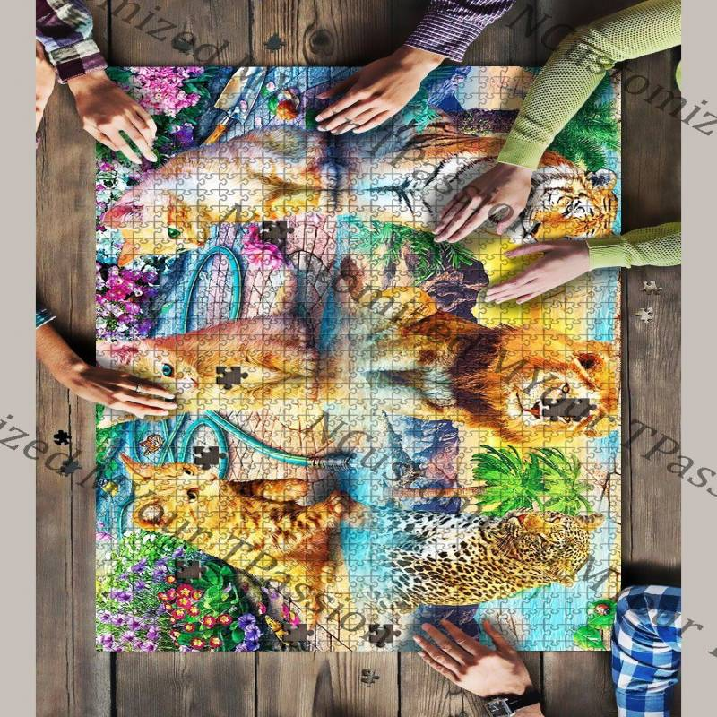 The Artsyhomes [Jigsaw Puzzles]  Cat Lover Jigsaw Puzzle 23052020