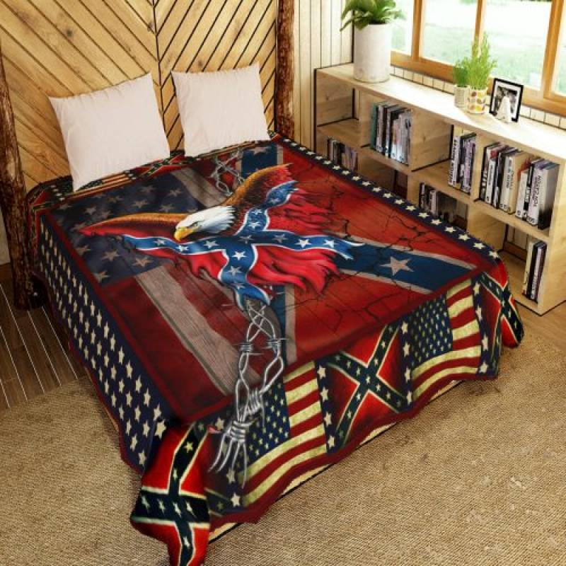 Confederate american history quilt blanket – Hothot 240720