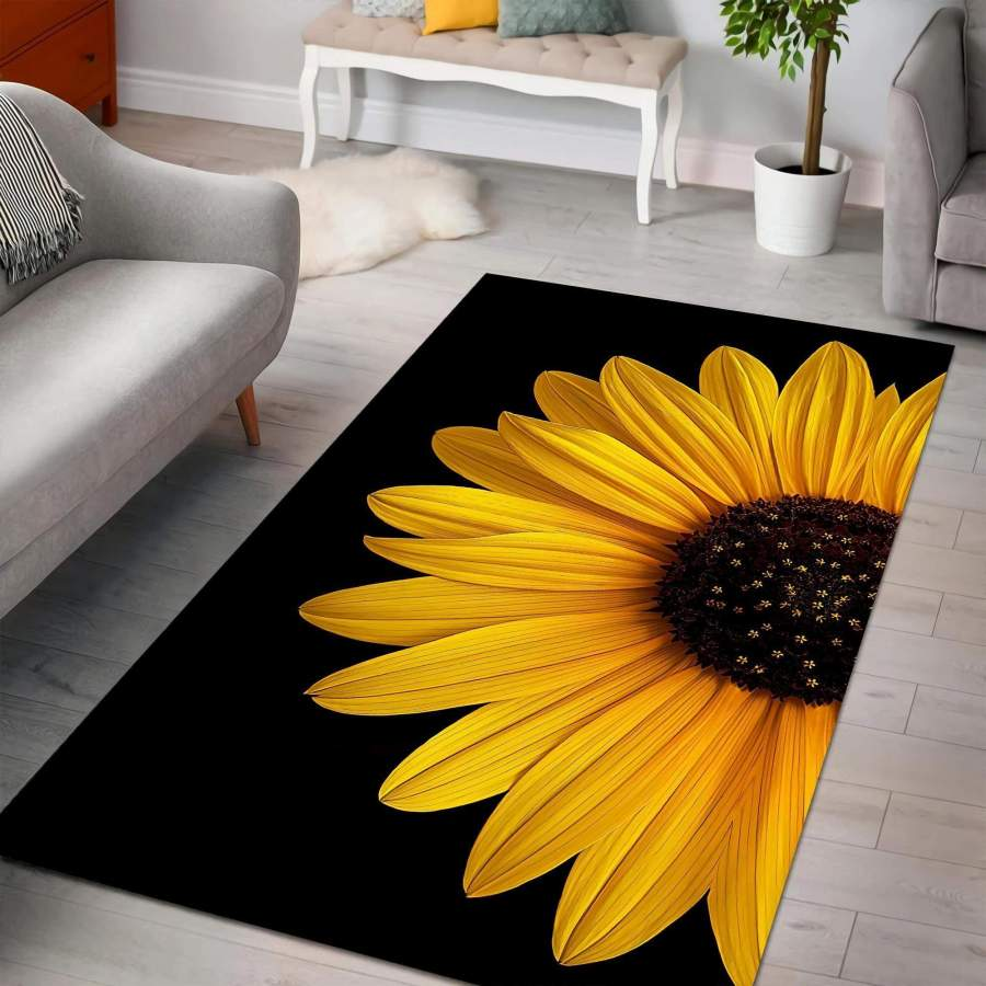 Sunflower In The Night Rug #L