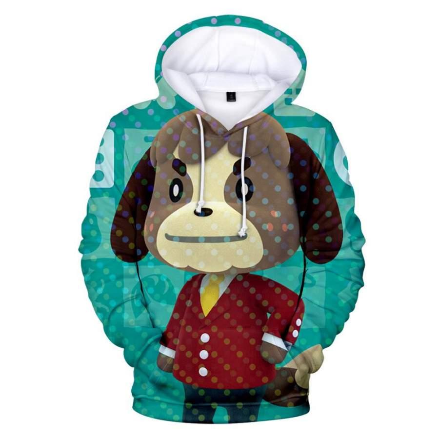 Animal Crossing Dog Digby 3D Hoodie