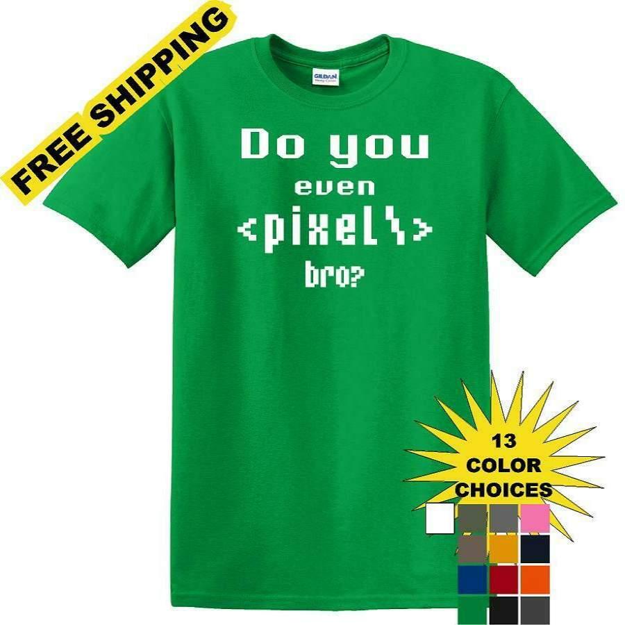 Pixel Coding – Social Media – Funny shirt – short sleeved T-shirt TSM12