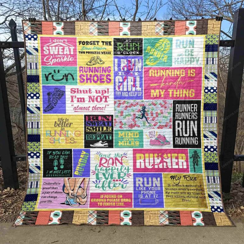 Life Is Better In Running Shoes Blanket TH0107 Quilt