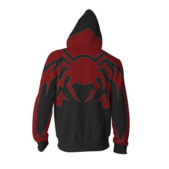 2019 Spider Man Zip Up Hoodie Pockets Hoodie Costume Sweatshirt
