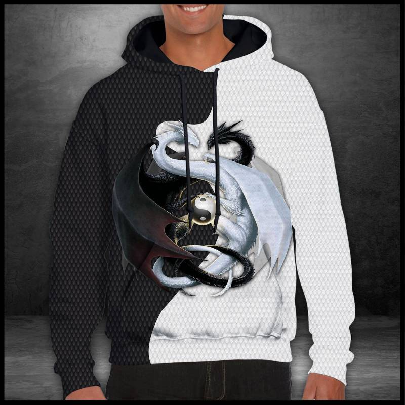 Dragon Yinyang T1609 - All Over Print Unisex Hoodie