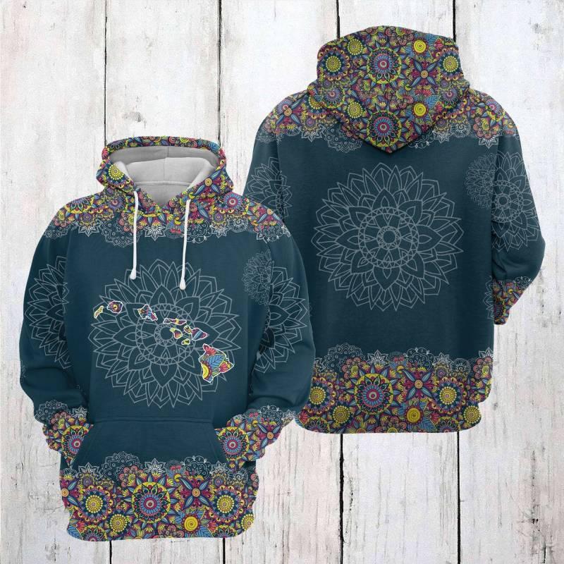 Artsyhomes [Hawaii Shirt] Hawaii Mandala T2205 - All Over Print Unisex Hoodie