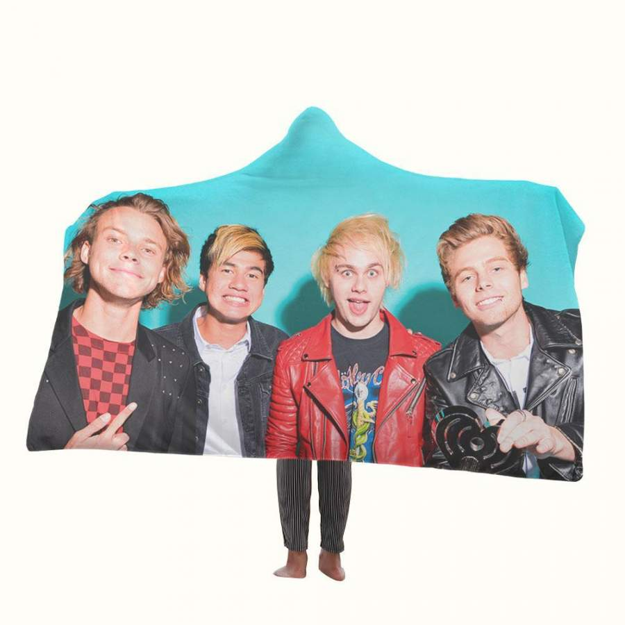 5 Seconds of Summer 2018 Hooded Blanket