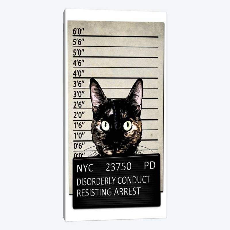 Kitty Mugshot - Canvas Print