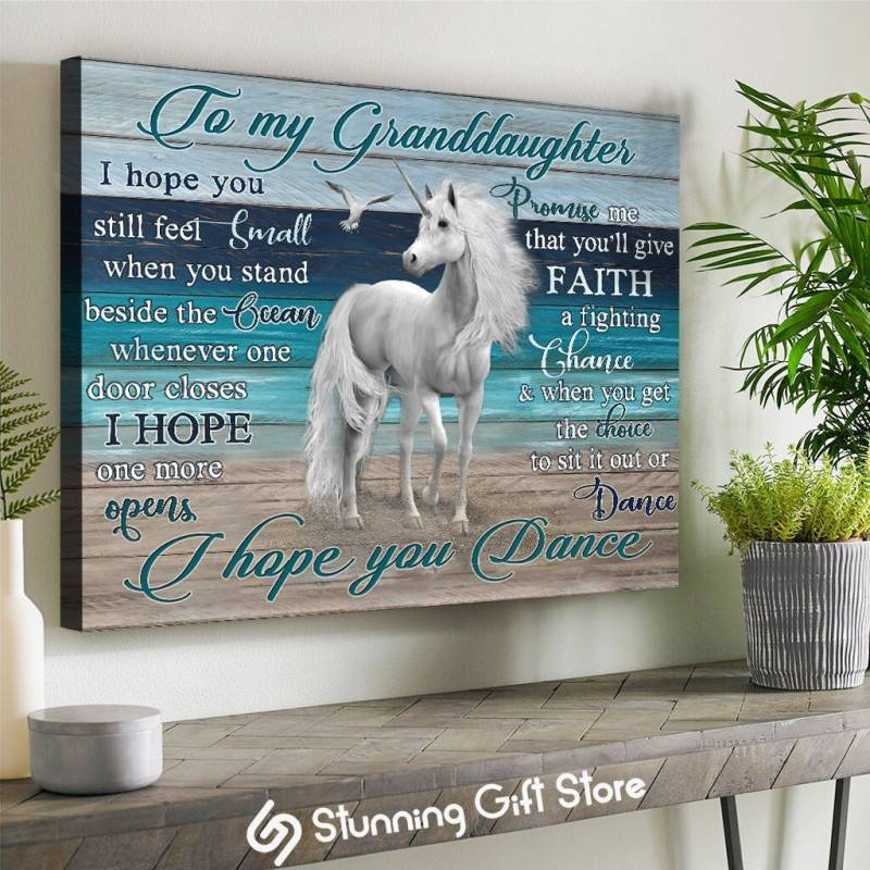 Gorgeous Unicorn I Hope You Dance  poster poster 3932203085