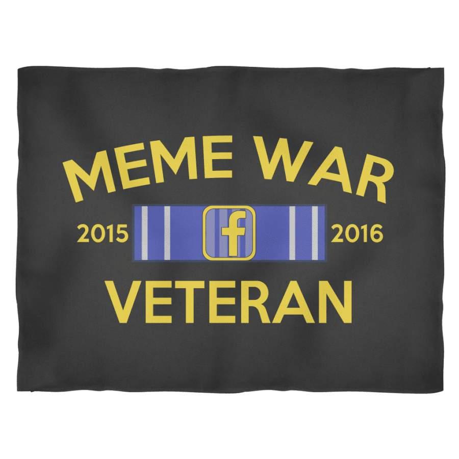 Meme War Veteran Fleece Blanket