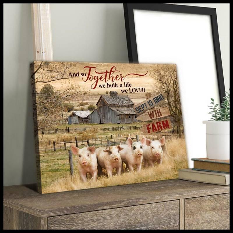 Together we build a life (wik farm) pig poster poster 3332203074