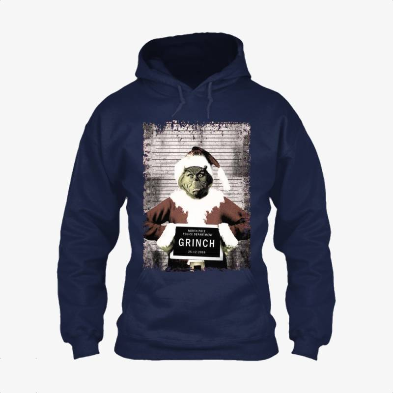The Grinch Christmas Mugshot, Grinch Classic Hoodie