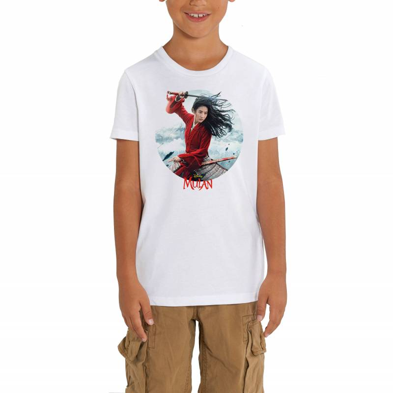 Walt Disney's Mulan Movie Poster Circular Print Children's Unisex T-Shirt