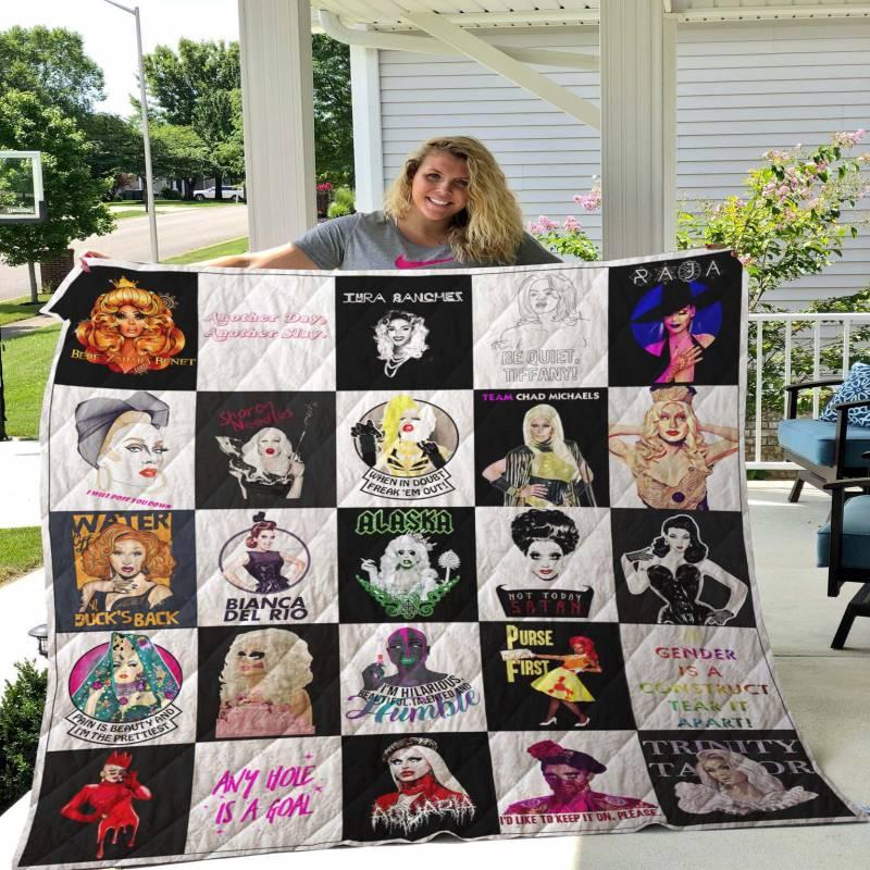 RuPaul's Drag Race T-shirt Quilt Blanket 01