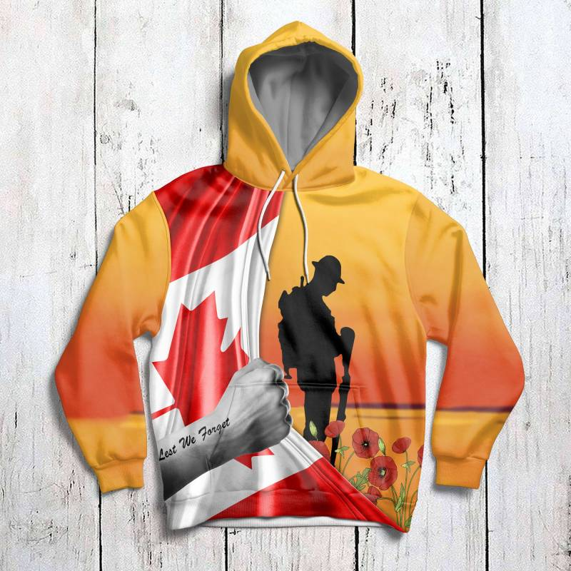 Canada Thank You for Your Service Veteran H14909 - All Over Print Unisex Hoodie