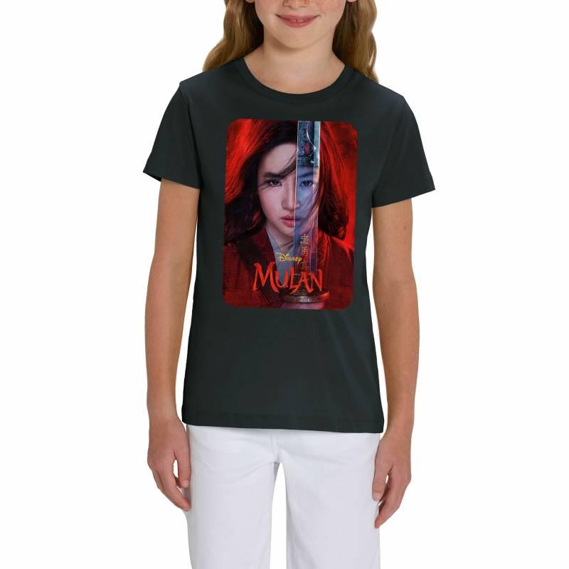 Walt Disney's Mulan Official 2020 Film Poster Children's Unisex Black T-Shirt
