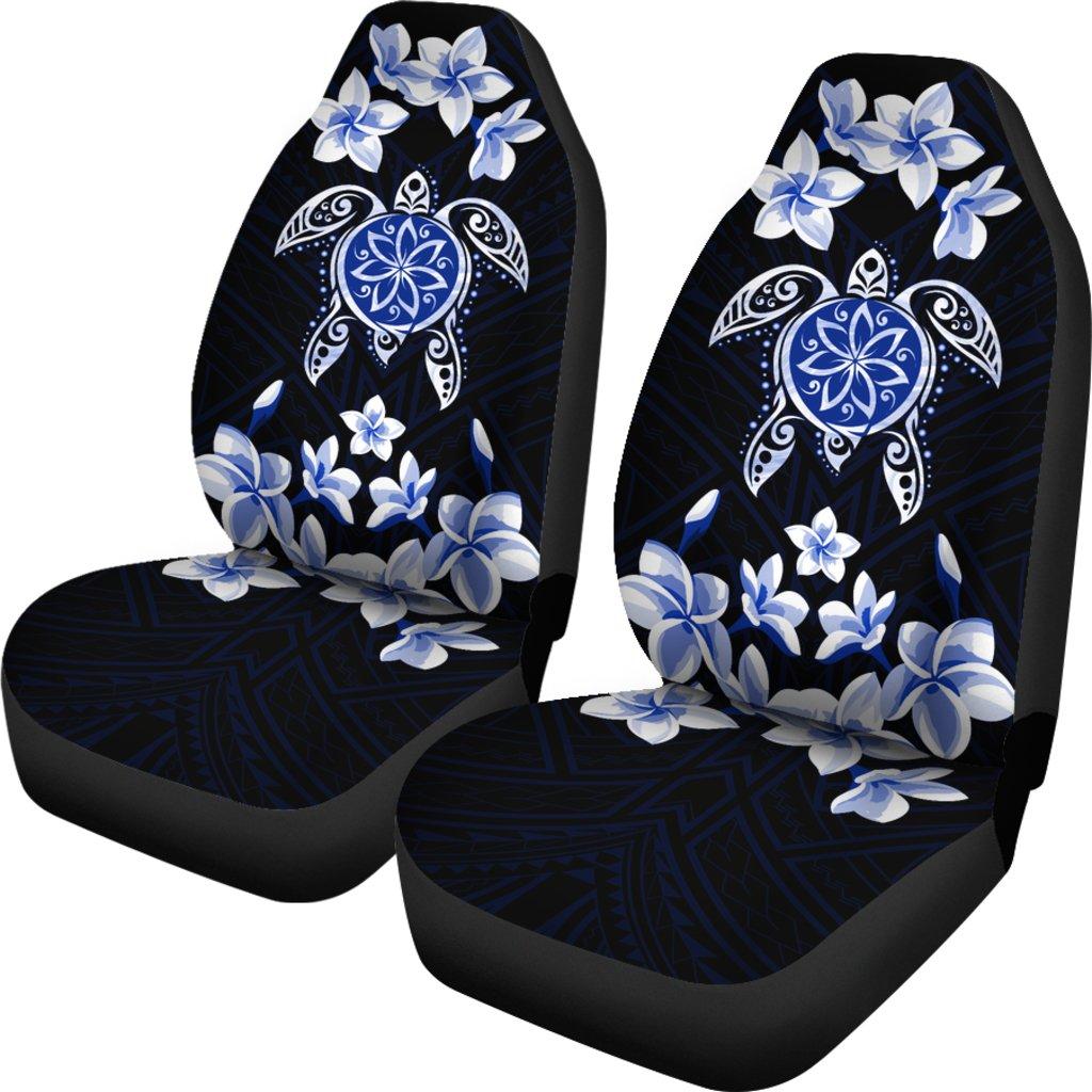 �Alohawaii Car Seat Covers – Hawaiian Icon Blue Turtle Plumeria – AH J0
