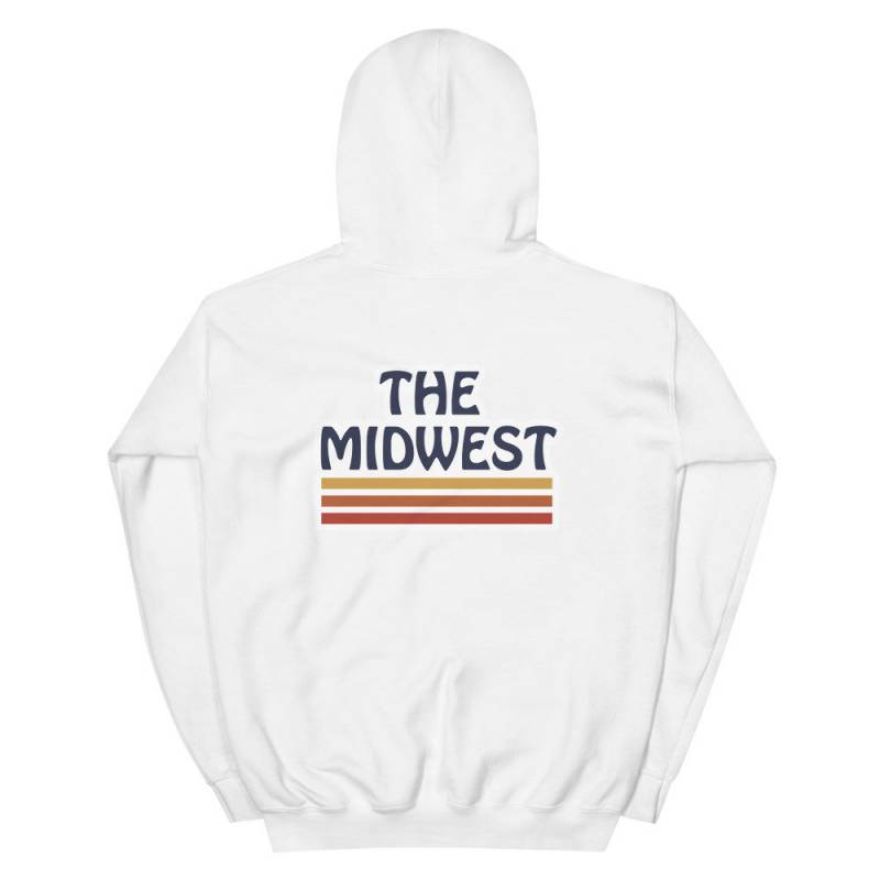 The Midwest Hooded Sweatshirt | Minnesota Shirt, Iowa Shirt, Ohio Tee, Retro Shirt, Hipster Shirt, Vintage Tee, MN Hoodie